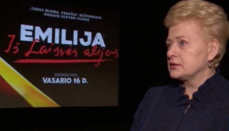 Prezidentei D. Grybauskaitei po filmo buvo labai sunku kalbėt