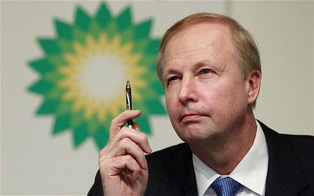 Britų naftos bendrovės BP vadovas Robertas Dadlis: 2017 m. naftos barelio kaina laikysis ties 55 dolerių riba