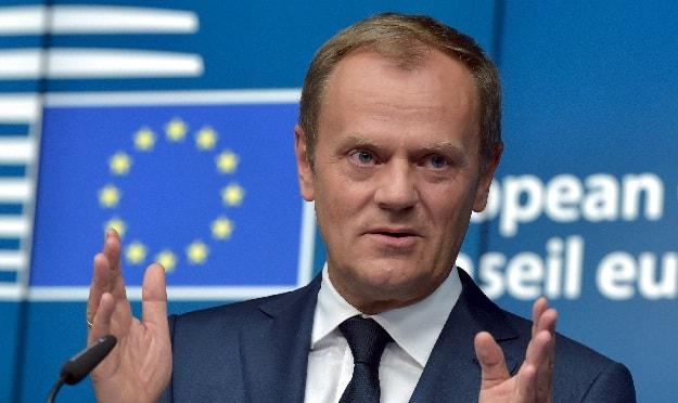 D. Tuskas: ES neįbaugins Didžiosios Britanijos grasinimai