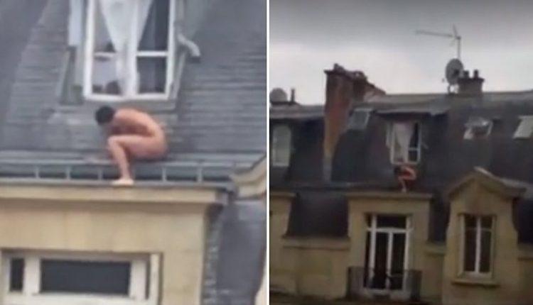 Visiškai nuogas vyras rizikavo savo gyvybe tupėdamas ant stogo: slėpėsi nuo netikėtai užklupusio meilužės sutuoktinio?