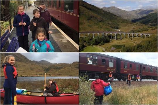 """""""Hogvartso ekspresas"""" išgelbėjo škotų šeimą"""