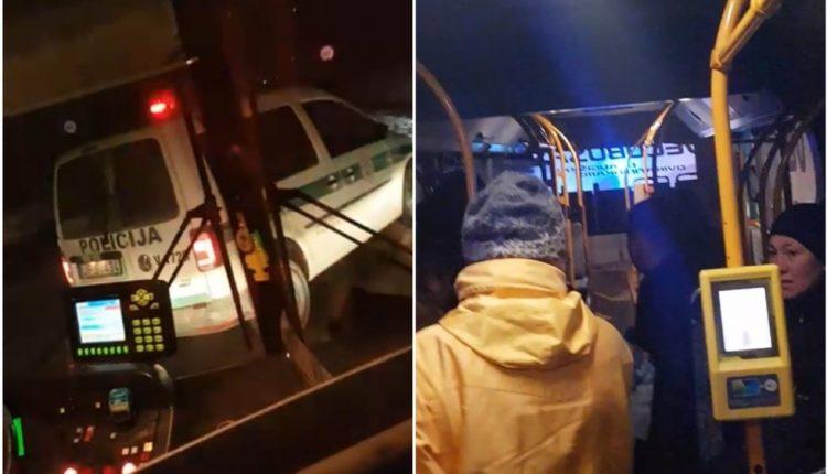 Žiaurus išpuolis Vilniaus autobuse: vyras žirklėmis žalojo žmones