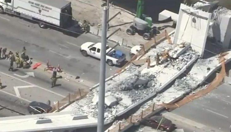 Majamyje sugriuvus naujai pastatytam pėsčiųjų viadukui žuvo keturi žmonės