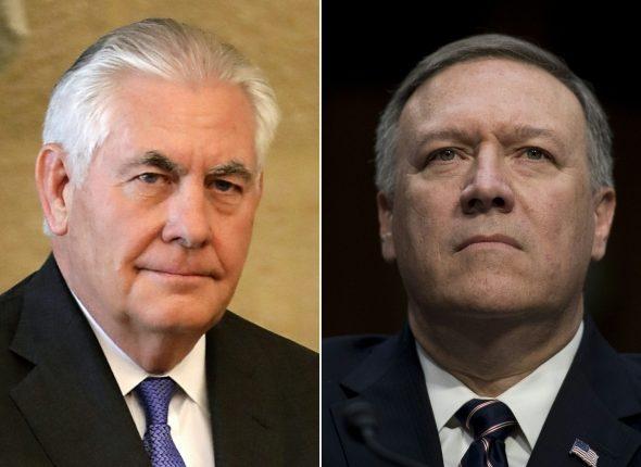 Trumpas atleido Tillersoną, naujuoju valstybės sekretoriumi paskyrė CŽV direktorių Pompeo